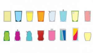 glimpse of the variety of shaped pouches