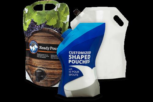 bottle shaped pouch